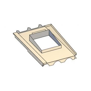 Embase étanchéité tuiles pour sortie de toit Luminance et Tradinov carrée
