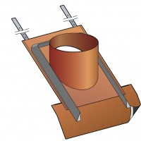 Embase étanchéité avec kit d'étanchéité pour sortie de toit Optimale ( si tuiles inconnues ou plates )