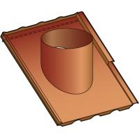 Embase étanchéité tuiles pour sortie de toit ronde