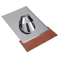 Solin inox tuile y compris kit d'étanchéité avec collerette conduit Inox-Inox