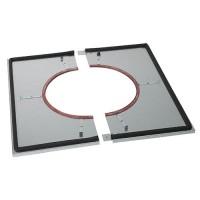 Plaque distance de sécurité étanche ( plafond ) Inox-Galva
