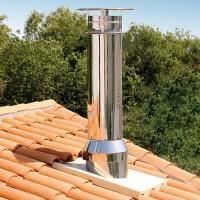Sortie de toit ronde hauteur 800 pente 0 à 120 conduit Efficience