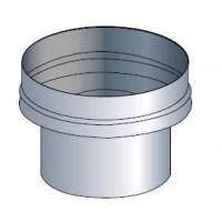 Réduction centrée ventilation acier galvanisé