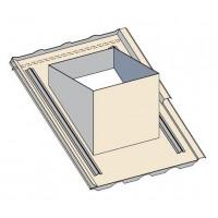 Embase étanchéité tuiles pour sortie de toit carrée grande hauteur