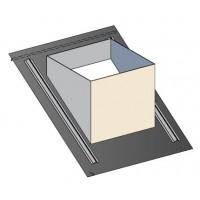 Embase étanchéité ardoises pour sortie de toit carrée grande hauteur