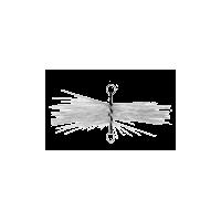 Hérisson PVC rond avec anneaux pour conduit INOX