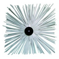 Hérisson PVC carré avec anneaux pour conduit INOX
